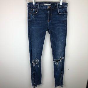 Zara zip-ankle jean